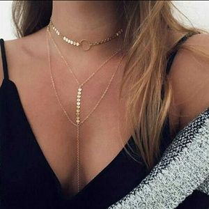 Jewelry - Any 4/$15! Double layer sequin necklace